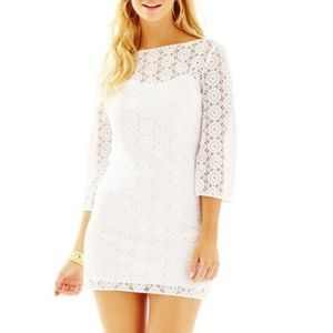 Lilly Pulitzer | White Lace Topanga Dress